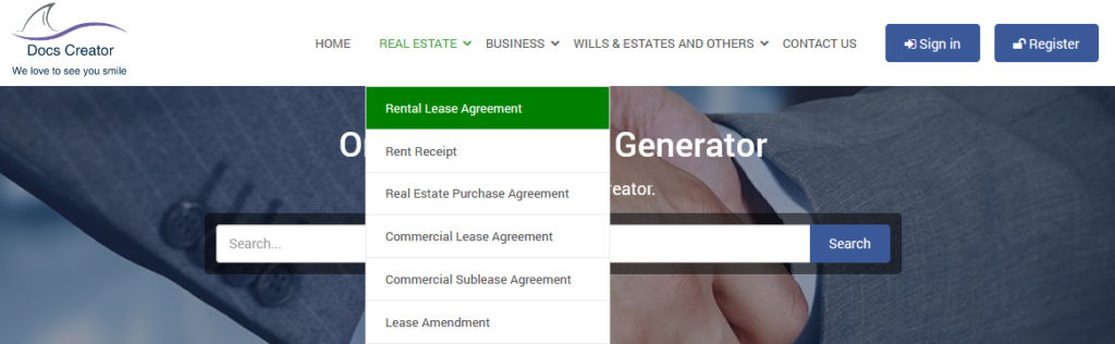 Rental Agreement Online